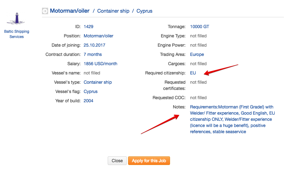 How to get employed online | BalticShipping com